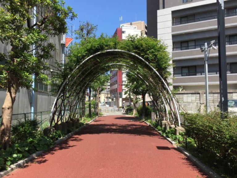 梅光園緑道 スタート地点(六本松)