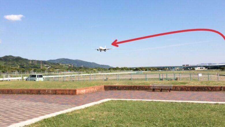 福岡空港 旋回