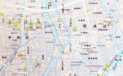 福岡の地図